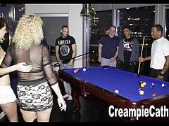 Her 1st Anal Creampie Gangbang