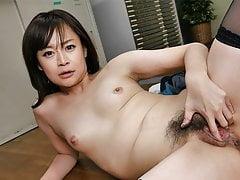 Japanese office gal Asuka Kyono had sex, uncensored