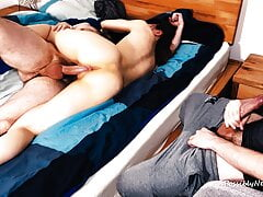 Cuckolding with my Big Cock Stepbrother Without Condom
